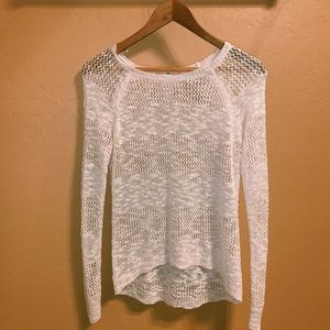 white knit top